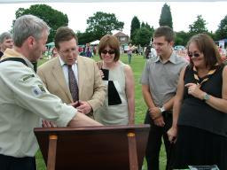 Mark and family at Heald Green Festival 2010
