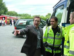 Mark with Sgt Darren Spurgeon of Greater Manchester Police at Gatley Festival