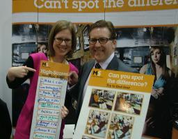 Mark at the MS Society stand at Lib Dem conference