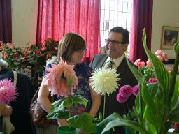 Mark and wife Lesley at the Cheadle Hulme Flower Show 2010