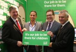 Mark at the NSPCC stand at Lib Dem Conference 2010
