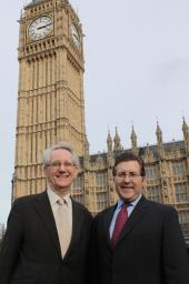 Mark with local Government Minister and neighbouring MP Andrew Stunell