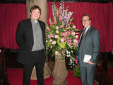 Mark alongside Rev Rob Munro at 'A Festival of Flowers'