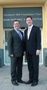 Mark with Lib Dem Leader Nick Clegg at Stepping Hill Hospital on their recent visit