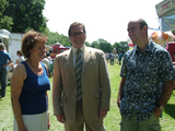 Mark alongside Councillor Pam King and Councillor Iain Roberts at Gatley Festival 2011