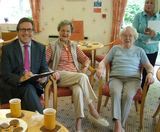 Mark on his recent visit to Guardian Lodge, Gatley