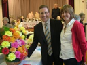 Mark and his wife Lesley at the Cheadle Hulme Flower Show