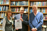 Mark presented the certificate to Andrew Cant & Sue Steel, Simply Books
