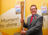 Mark with the Olympic Torch