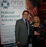 Mark with NRAS Chief Executive, Ailsa Bosworth