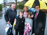 Mark with Councillor Lenny Grice and local residents