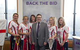 Mark at the Lacrosse World Cup bid launch