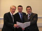 Mark with Andrew Stunell and John Leech