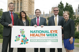 Mark Hunter MP (centre) with members of the National Eye Health Week Steering Group