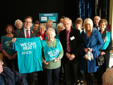 Mark alongside Parkinson's UK Stockport branch members and supporters