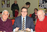 Mark with local residents at the fundraising lunch