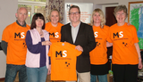 Mark with the local MS Society team
