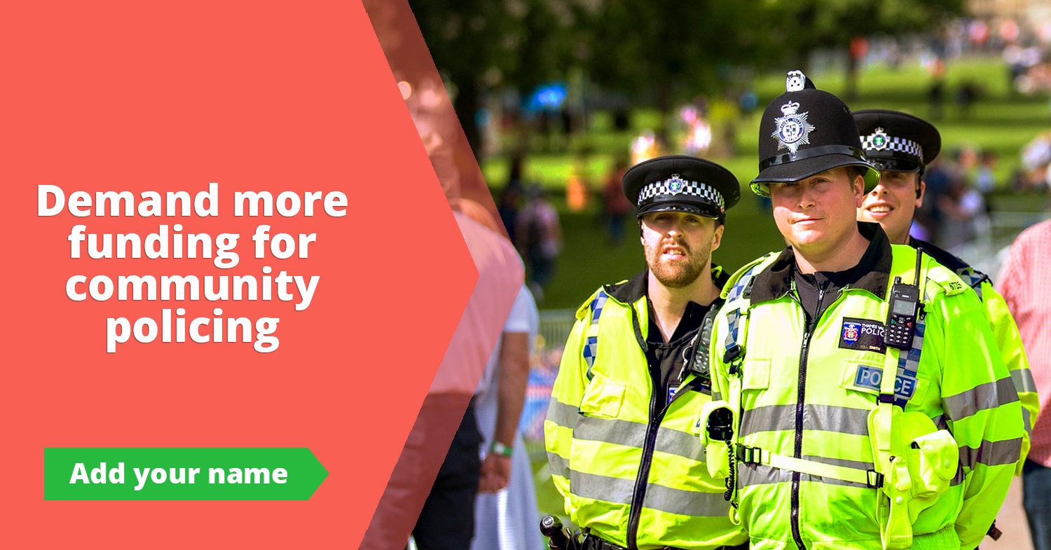 Demand more funding for community policing