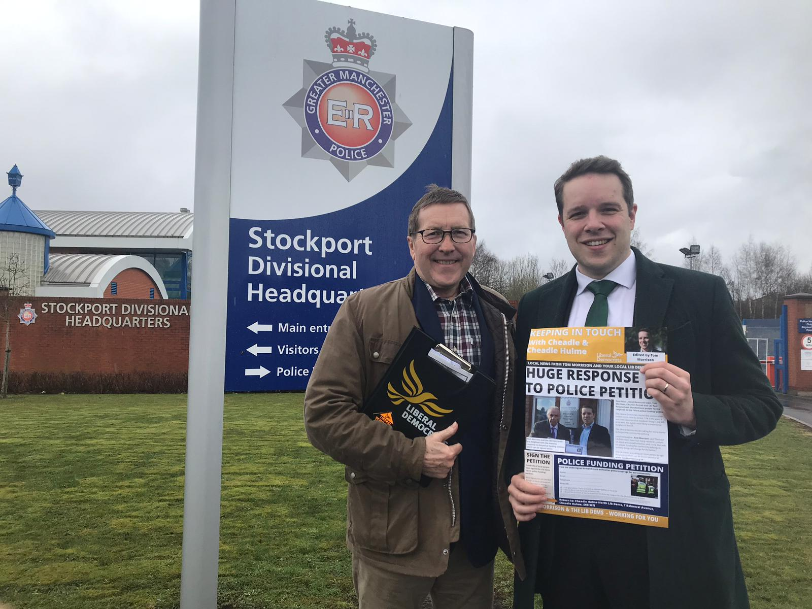 Tom Morrison and Mark Hunter with crime petition
