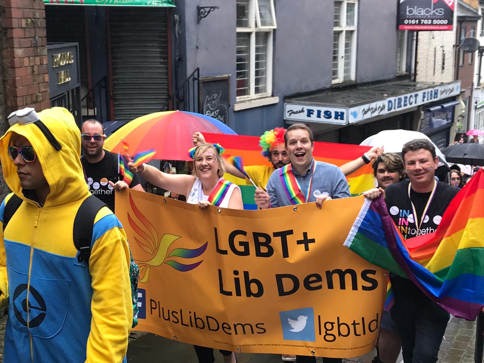 Cheadle Lib Dems at Pride