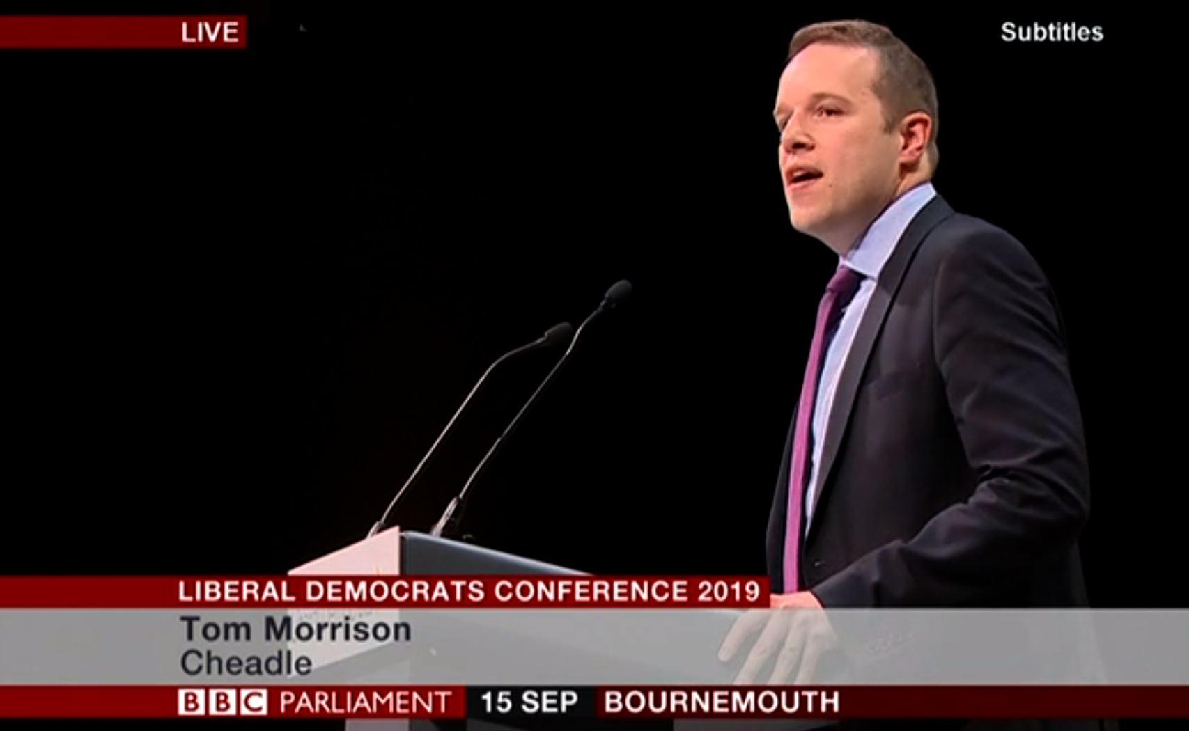 Tom speaks at conference
