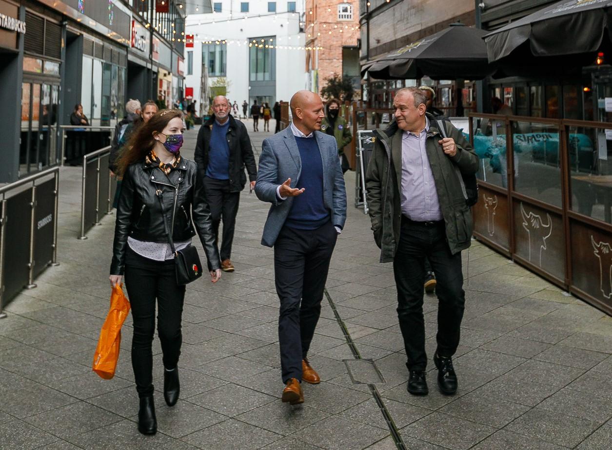 Lib Dem leader Ed Davey visits Cheltenham on his national listening tour