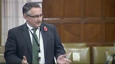 Martin speaking on broadband in Parliament