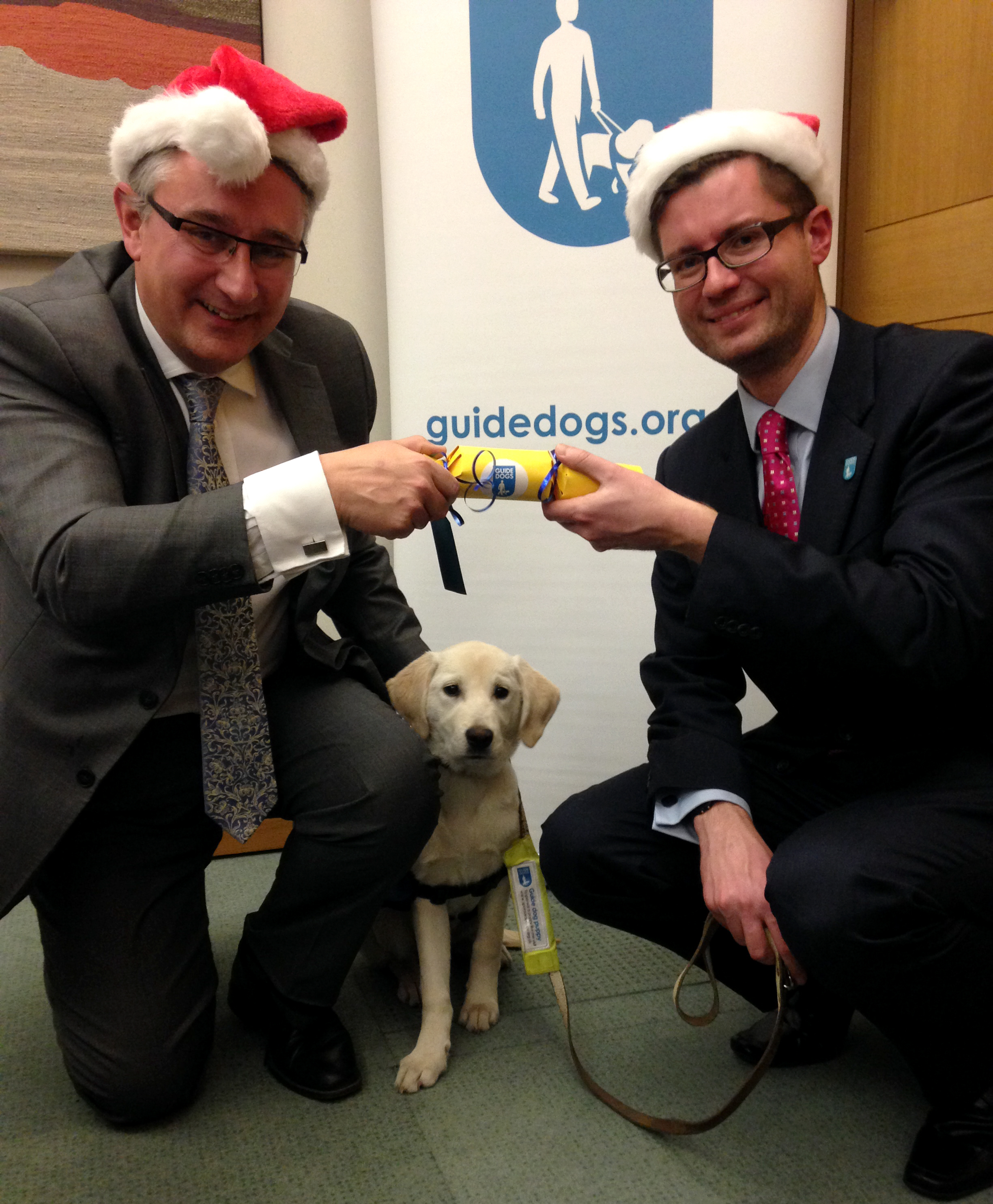 Guide Dogs wish Martin Horwood MP a Cracking Christmas