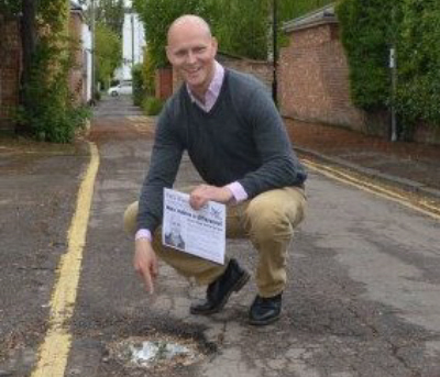 Our roads are shocking - Conservative council is letting our town down