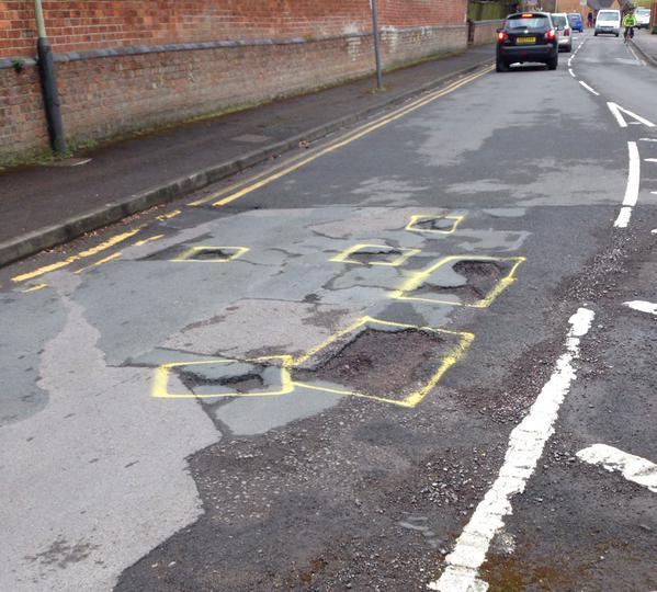 Huge black hole in Tory pothole funding.