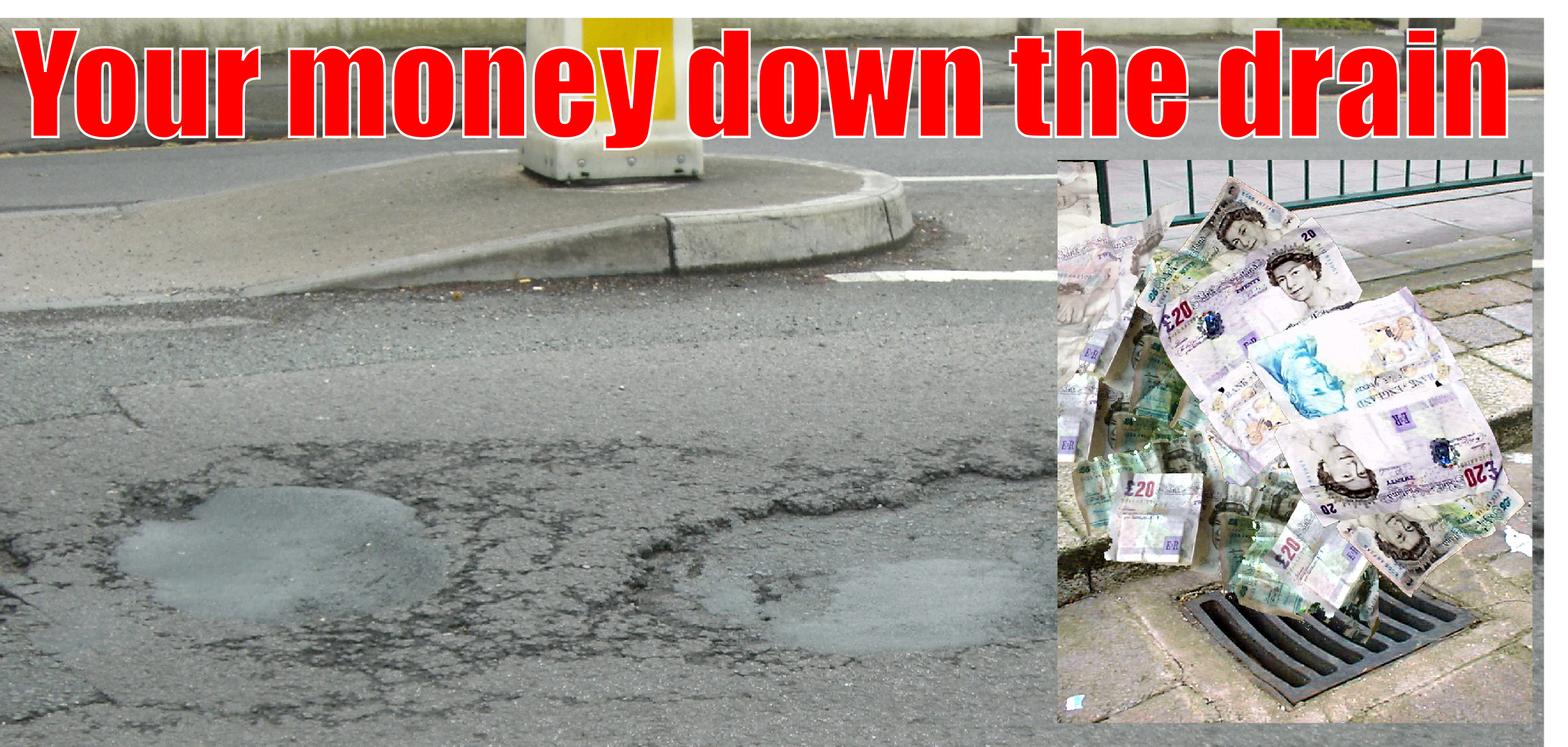 County Council pays out nearly £18,000 of taxpayers' money for pothole damage