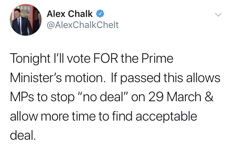 Why did our MP change his mind on 'no deal' Brexit?
