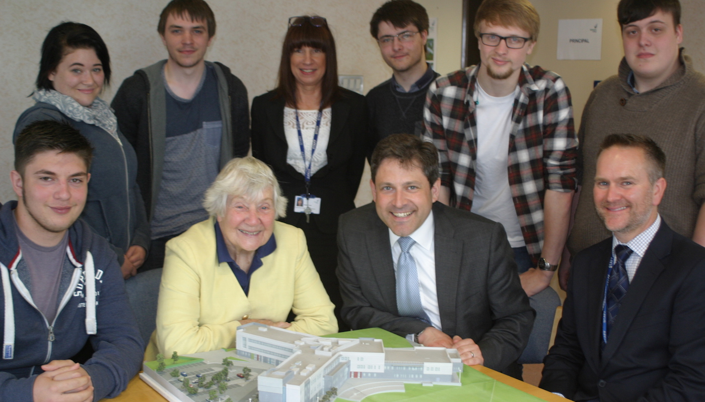 Duncan and Shirley Williams visit Wiltshire College