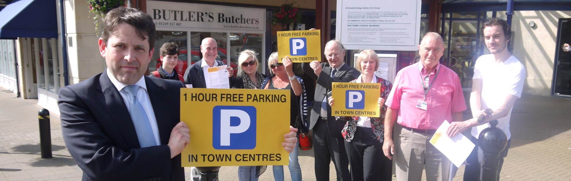 Free parking campaign