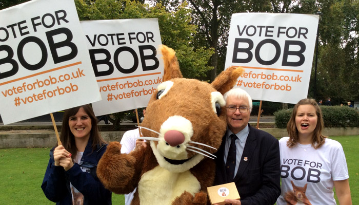 Sir Bob and RSPB campaigners