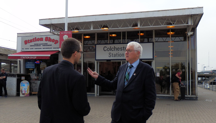 Sir Bob at Colchester Rail Sation
