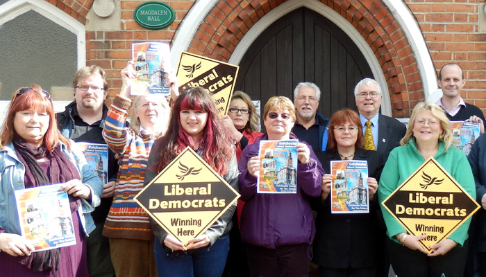 Sir Bob and the Lib Dem team