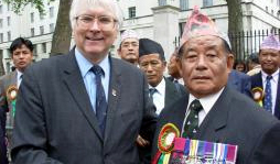 Sir Bob Russell and a Ghurkha