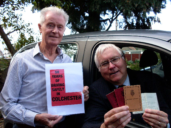 Sir Bob Russell and his driving instructor