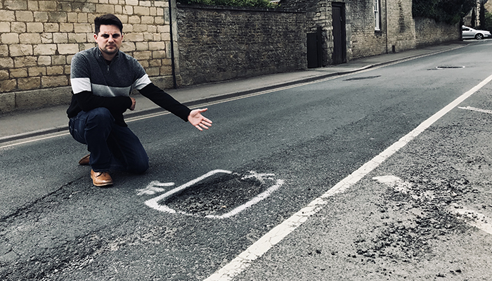 Joe calls on UK Government to spend more on the country's broken roads