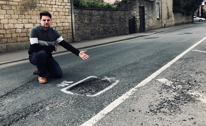 Gloucestershire Lib Dems call on UK Government to spend more on the country's broken roads