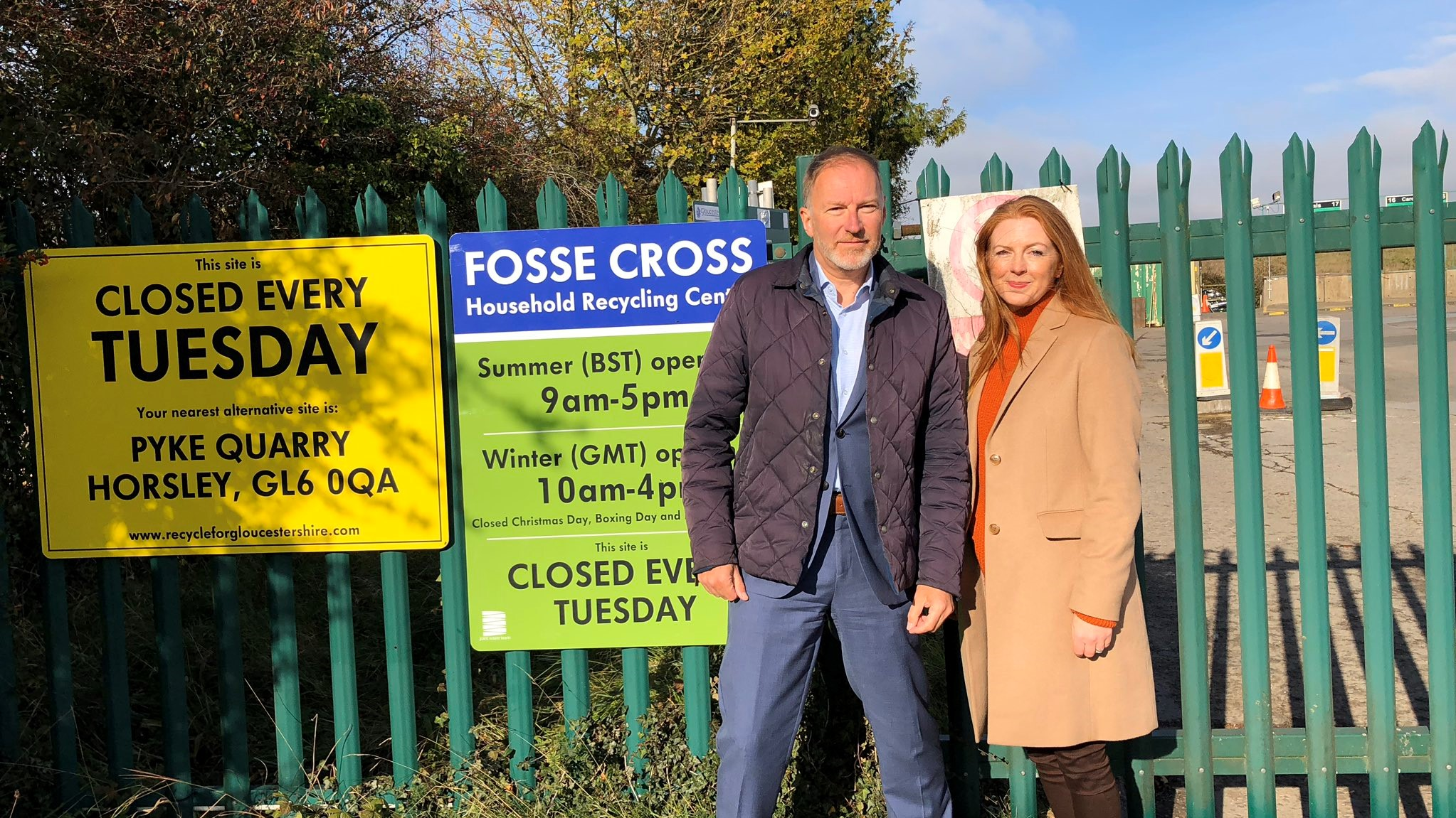 Fosse Cross Household Recycling Centre to re-open!