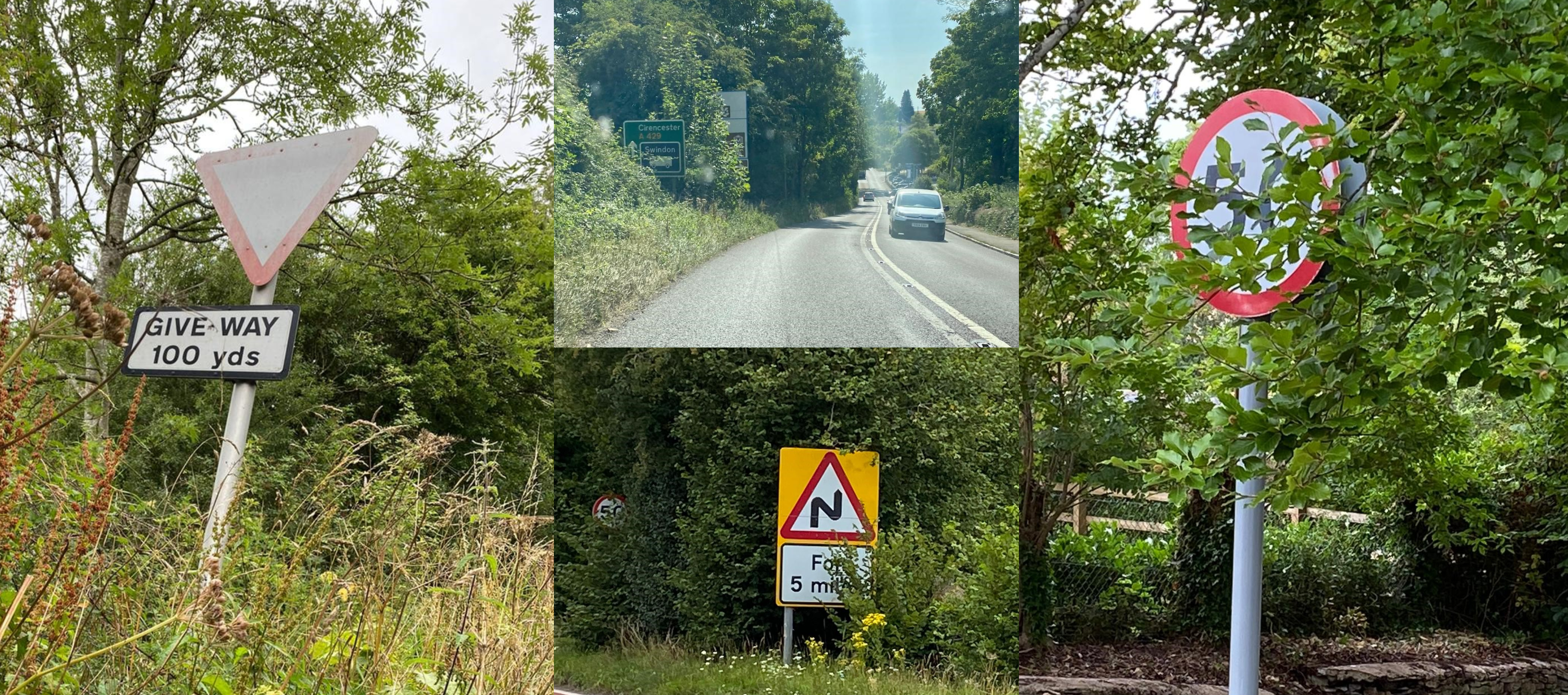 Campaign launched to clear Gloucestershire's dangerously unreadable road signs