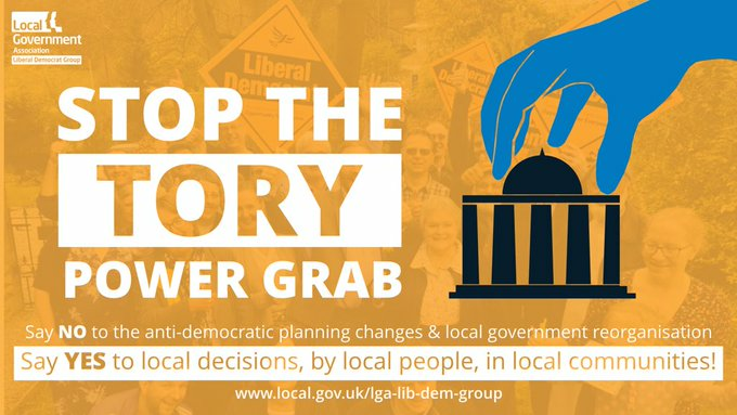 """Lib Dem council chiefs vow to challenge Govt's """"power grab"""" on planning"""