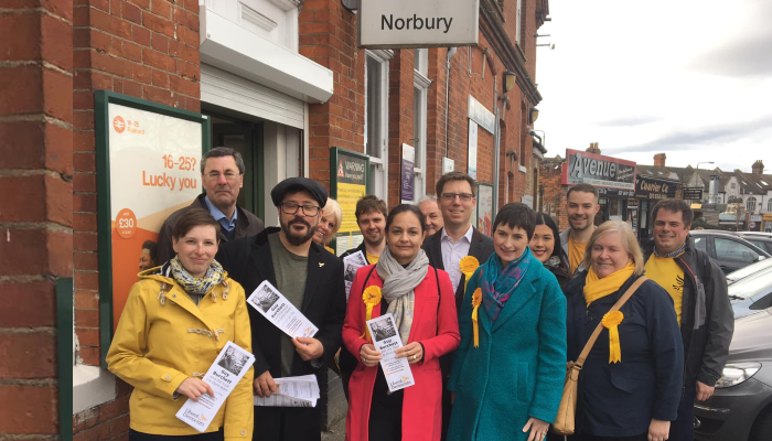 Lib Dem volunteers in Norbury