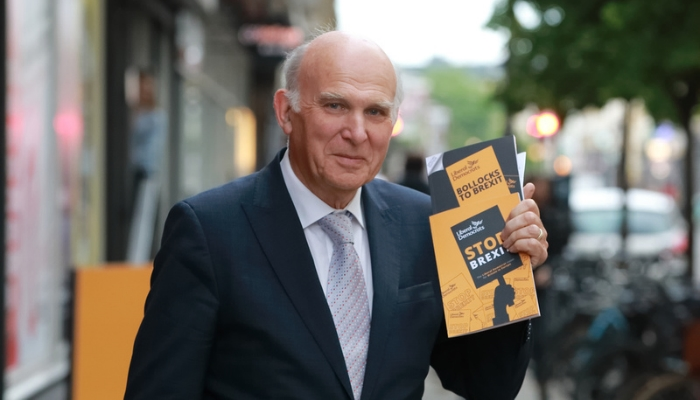Vince Cable launches the Lib Dem manifesto for the European Parliament elections 2019