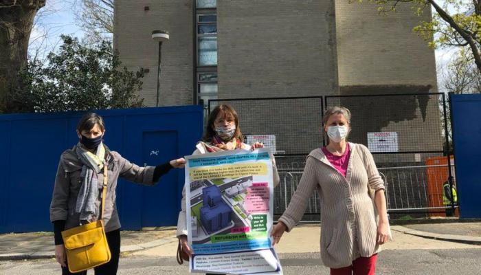Caroline Pidgeon, Lib Dem London Assembly Member campaigns to save Central Hill Estate