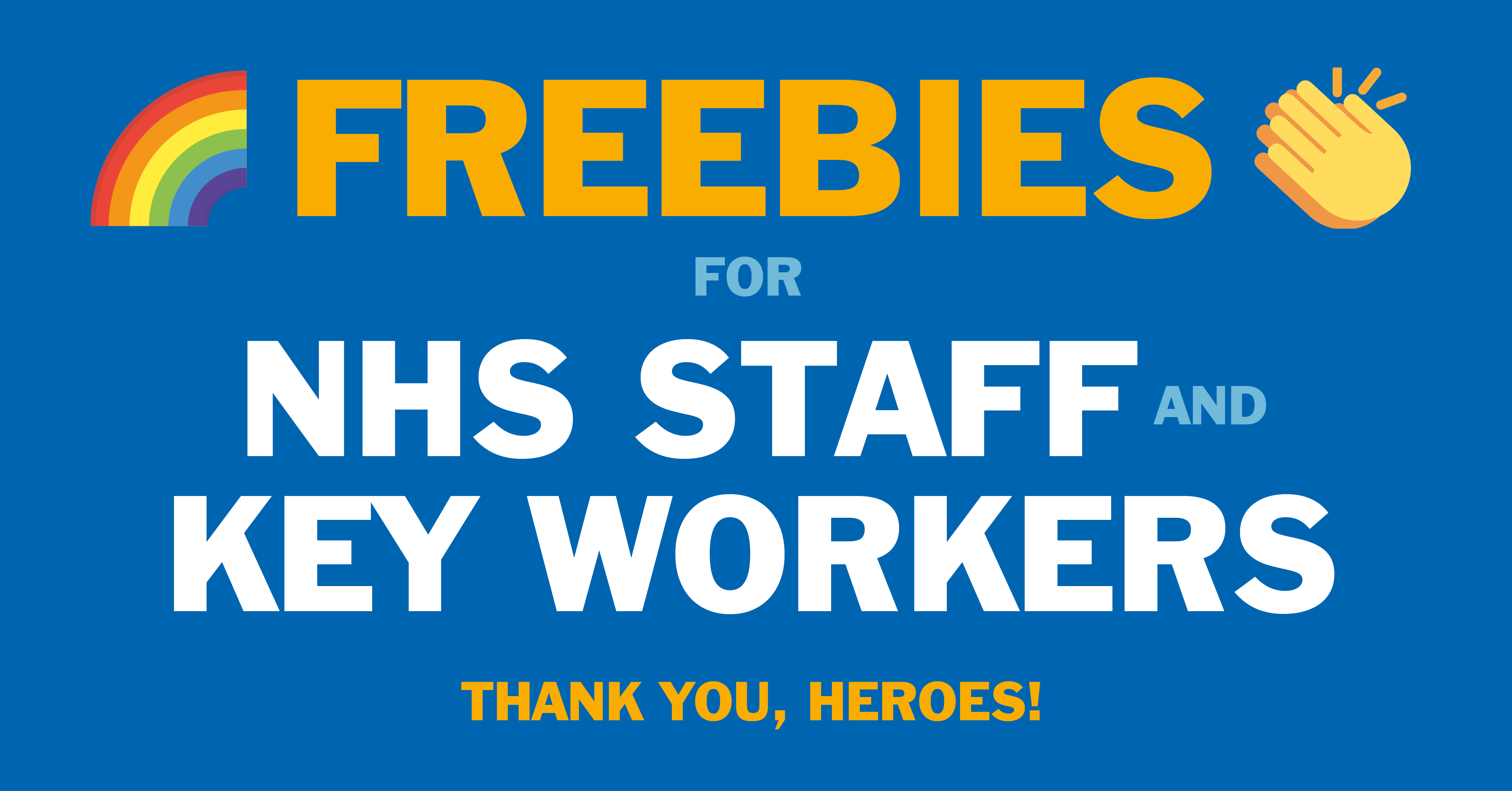 Key worker and NHS  freebies and discounts