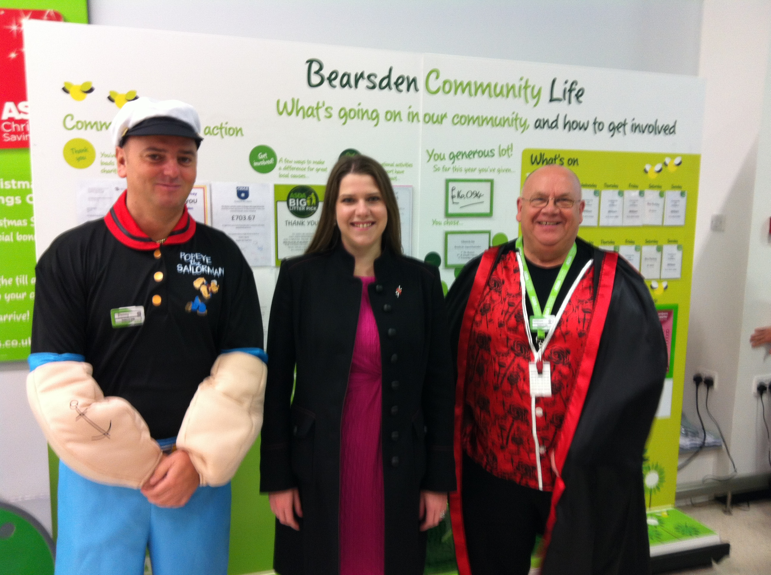 2012-10-26_ASDA_Bearsden_for_Tickled_Pink_Jo_Swinson_and_staff_in_Halloween_costumes.JPG