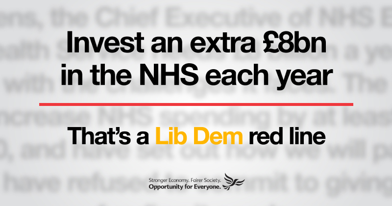 Backing the NHS is a Lib Dem red line